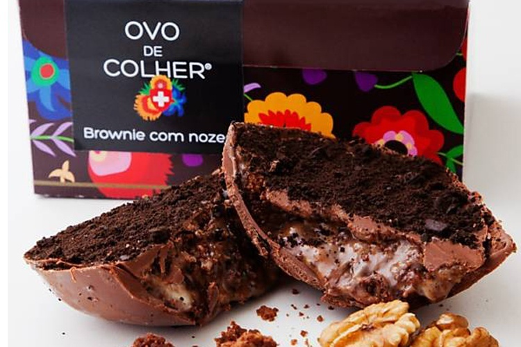 Ovo de colher com recheios de brownie com nozes da La Vie por Carole Crema (R$ 45)