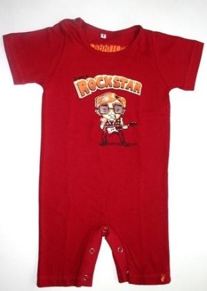 Body Rockstar 100% algodão. Disponível nos tamanhos de dois aos oito anos. Preço: R$ 44, na El Cabriton (www. elcabriton.com.br). Preço consultado em março de 2012