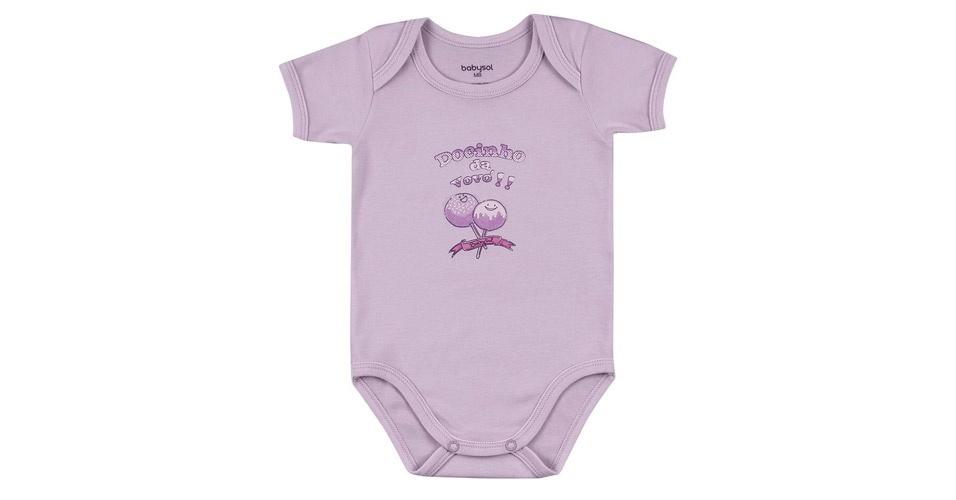 """Body unissex """"Docinho da Vovó"""". Feito em suedine e 100% algodão. Disponível nos tamanhos P, M, G e GG. Preço: R$ 19,90, na Babysol (www.marisol.com.br). Preço consultado em março de 2012"""