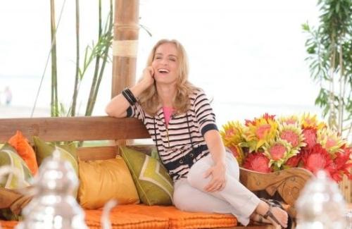 """Angélica grava participação em uma edição especial do """"Mais Você"""", de Ana Maria Braga (16/10/08)."""