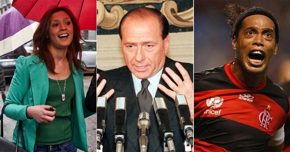 A marroquina Imane Fadil (acima à esquerda), disse que participou das festas privadas de Silvio Berlusconi e que viu stripper brasileira fantasiada de Ronaldinho Gaúcho