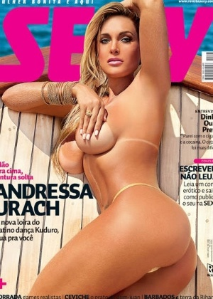 """Capa da """"Sexy"""" (abril/2012) com a ex-bailarina Andressa Urach"""