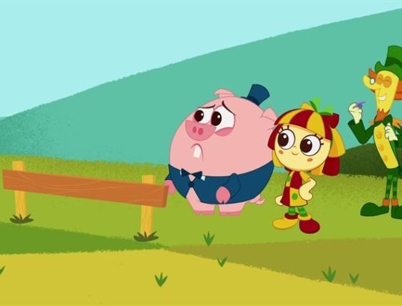 2012 - Rabicó, Emília e Visconde de Sabugosa em cena do do desenho animado Sítio do Picapau Amarelo. A versão da obra de animação de Monteiro Lobato estreou em janeiro deste ano na Rede Globo