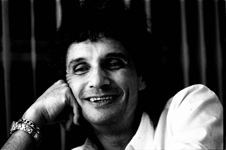Roberto Carlos em S&#227;o Paulo, em foto de 1985.