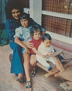 Roberto com os filhos Ana Paula, Dudu e Lulu.