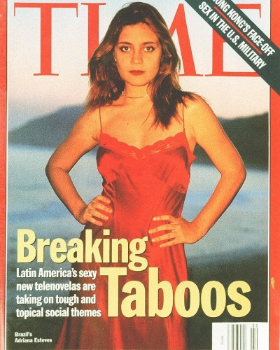 A atriz Adriana Esteves estampa a capa da revista &#34;Time&#34; em 1997