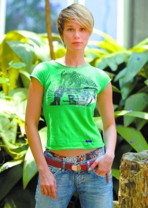 """A atriz Mariana Ximenes em """"A Favorita"""", novela da Rede Globo, em 2008. Na trama, a atriz fez o papel de Lara, filha de Flora (interpretada por Patrícia Pillar)"""