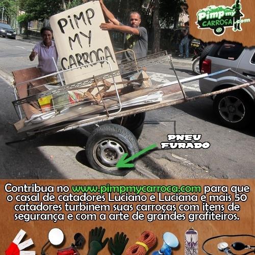 Arte e reciclagem nas ruas de São Paulo também serão debatidas na 'carroceata', a manifestação pacífica em que o grupo de catadores beneficiados pelo projeto irão desfilar suas carroças 'turbinadas' pela cidade.