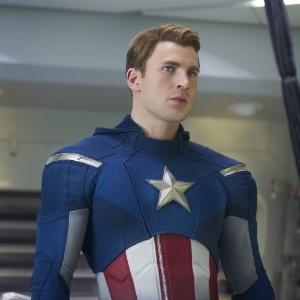 """O ator Chris Evans como o Capitão América em """"Os Vingadores"""""""