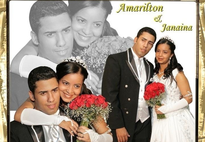 No dia 22 de dezembro de 2007, Janaina Almeida Amorim se uniu a Amarilton Souza da Silva, 2007 na Proquia Nossa Senhara de Fatima, em Feira de Santana, na Bahia.