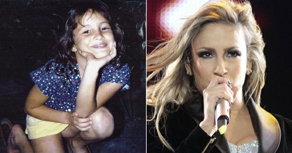 A cantora Claudia Leitte já tinha a mesma carinha de sapeca quando pequena