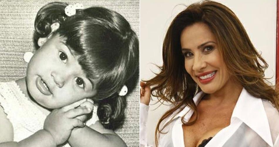 A ex-morena do Tchan Scheila Carvalho era uma garotinha linda