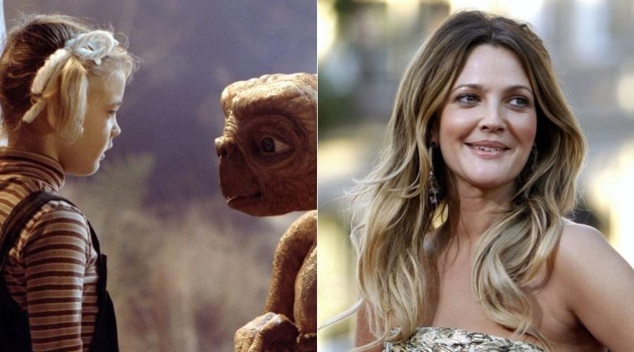 """Drew Barrymore ficou conhecida ao fazer seu primeiro filme, """"ET"""", quando tinha seis anos. Porém a atriz fazia comerciais desde bebê"""