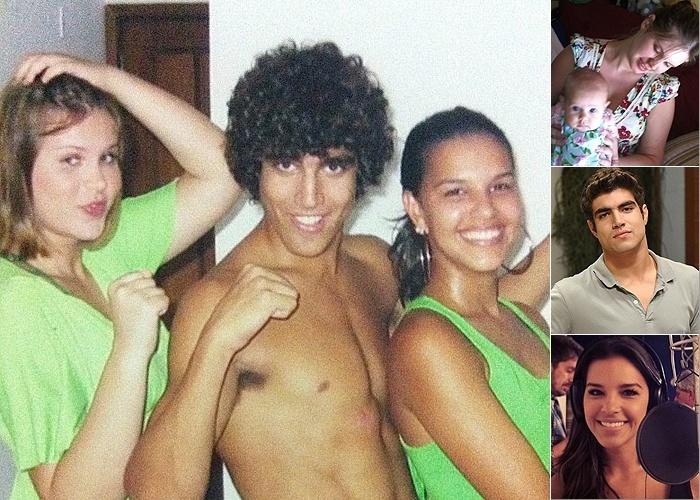 """Eles não eram mais crianças nesta foto, mas mudaram bastante em poucos anos: Carolinie (que já é mamãe!), Caio Castro e Mariana Rios aparecem juntos em imagem postada por Carolinie na web (13/3/12). Ela não divulgou a data, mas provavelmente é da época em que o trio atuou em """"Malhação"""""""