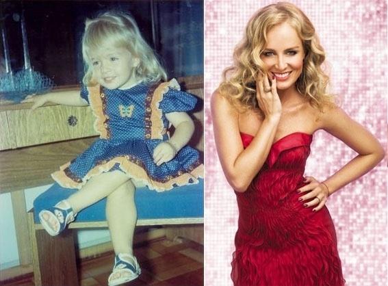 """Em 1978, Angélica, então com apenas quatro anos de idade, participou de um concurso e foi eleita a criança mais bonita do Brasil. Na foto à direita, com 37 anos, a apresentadora foi capa da edição de junho da revista """"Máxima"""""""