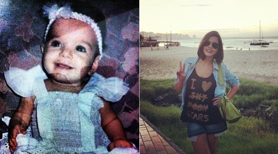 """Giovanna Lancellotti mostra foto de quando era bebê (20/3/2012). A imagem foi divulgada pela atriz por meio de sua página do Twitter. """"Eu era fofa"""", escreveu Giovanna no microblog"""
