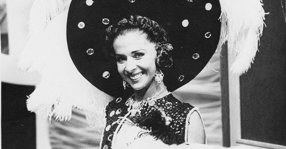 """1978 - A atriz Betty Faria no especial """"Brasil Pandeiro"""", da TV Globo"""