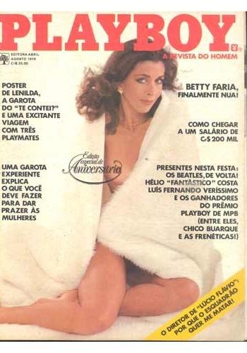 """A atriz Betty Faria posou duas vezes para a """"Playboy"""": a primeira (foto) foi em 1978"""
