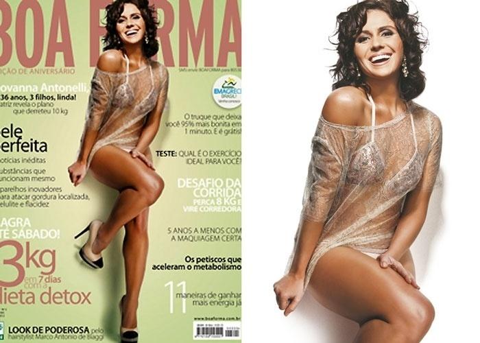 """De biquíni, Giovanna Antonelli posa para a revista """"Boa Forma"""" (7/5/12). A imagem foi publicada pelo maquiador Marco AntonioDi Biaggi em seu Twitter"""