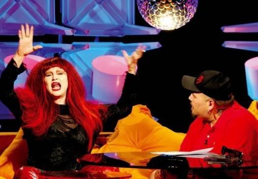 2005 - A atriz durante entrevista a João Gordo no programa da MTV 'Gordo a Go-Go'
