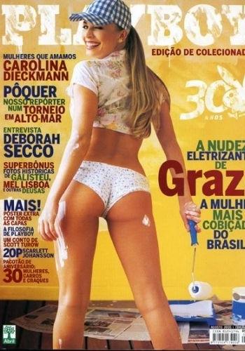 """A bela foi capa da """"Playboy"""" no 30º aniversário da revista. A edição foi a mais vendida entre os anos de 2005 e 2010. Grazi completa 29 anos em 28/6/11"""