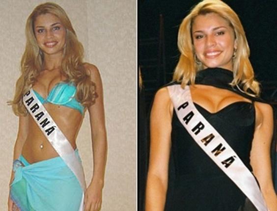 A bela foi incentivada desde cedo, pela mãe, a participar de concursos de beleza mirim. Aos sete anos já fazia desfiles em sua cidade natal; na adolescência foi eleita rainha das festas de Agropecuária. Aos 22 anos, foi coroada Miss Paraná 2004