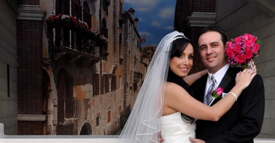 Helaine e Oberson Emmerich casaram-se no dia 28/2/12, em Las Vegas (EUA).