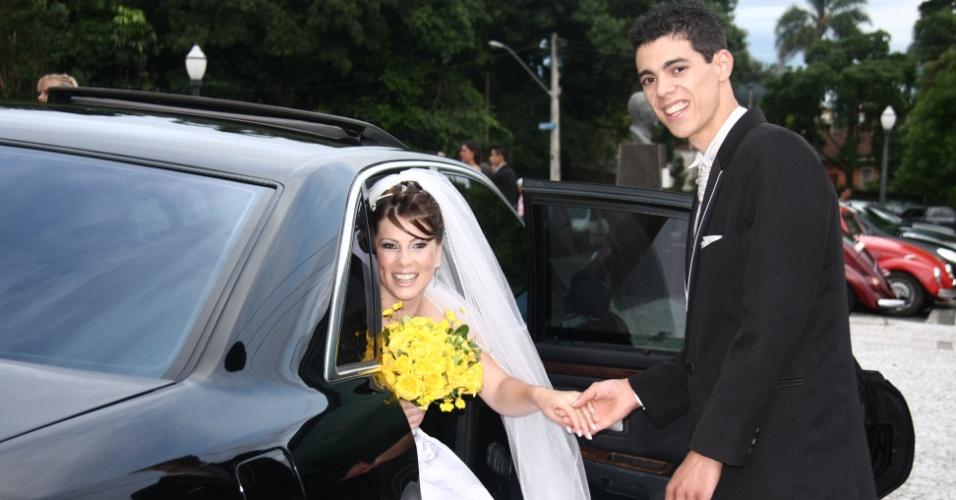 Marinalda e Anderson Fagundes casaram-se no dia 12/12/11, em Curitiba (PR).