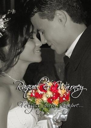 Raquel Esteves Ribeiro e Wárney Oliveira da Silva casaram-se no dia 23/10/10, em Teófilo Otoni (MG).
