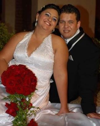 Franciele e Rodrigo se casaram no dia 25 de setembro de 2010 no Santuário Santa Clara de Cândido Mota (SP).