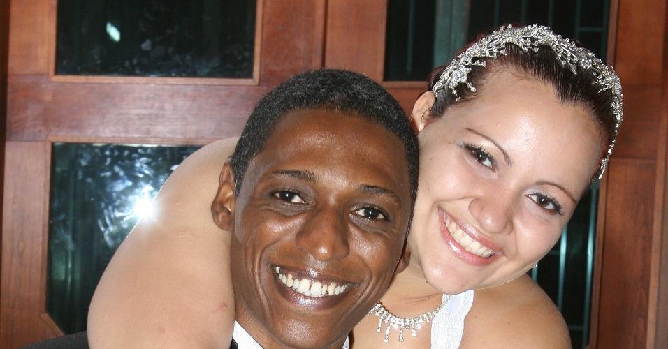 O casal Nelson e Priscila Cândido completaram Bodas de Madeira em maio de 2012. Eles se casaram há cinco anos na Igreja Metodista de Irajá, no Rio de Janeiro, em 5 de maio de 2008.