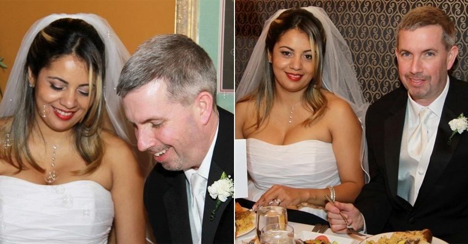 Valeria Gentil conheceu John Thomas Nugent quando foi fazer doutorado nos EUA em 2010. O casamento aconteceu na data mística de 11/11/11.
