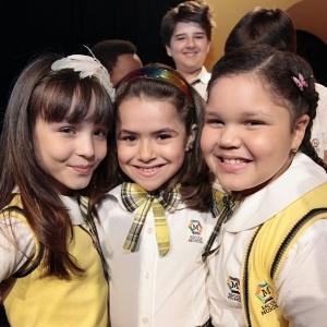 "A atrizes Larissa Manoela, Maisa Silva e Aysha Benelli, de ""Carrossel"" , do SBT (7/5/12)"