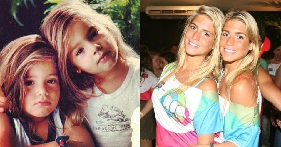 """A dupla Bia e Branca Feres relembrou os tempos de infância com uma foto das duas pequeninas no Twitter. A dupla do nado sincronizado e famosas DJ´s da MTV fizeram o desafio: """"Quem é quem?"""". Você arrisca um palpite?"""