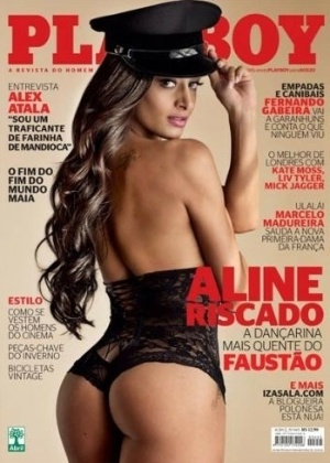 De lingerie preta e chapu, a bela danarina do Fausto estampa a capa da 
