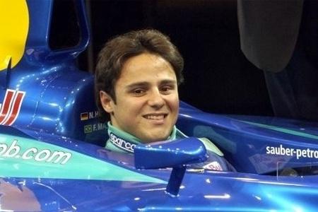 Felipe Massa entrou para a equipe Sauber em 2001; e ingressou na Fórmula 1 em 2002, aos 20 anos (fev.2002)
