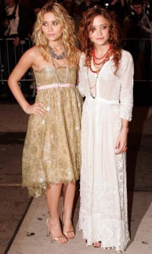 As atrizes participam de evento no Museu Metropolitano de Arte, em Nova Iorque, EUA (2/5/05)