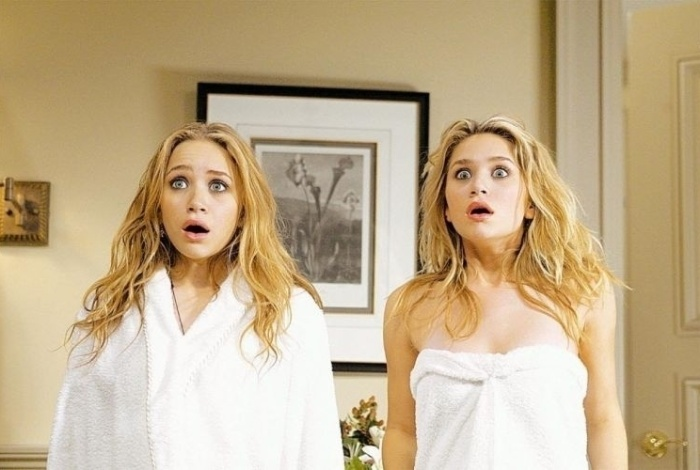 2004 - As irmãs Olsen em cena do filme 'No Pique de Nova York'. Entre