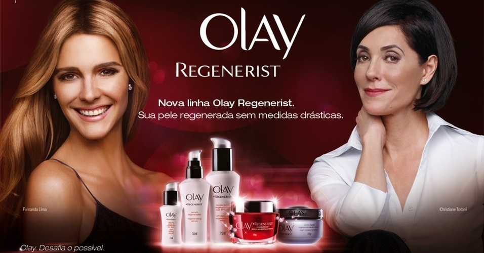Fernanda Lima e Christiane Torloni na campanha de lançamento da Olay no Brasil (nov.2010)