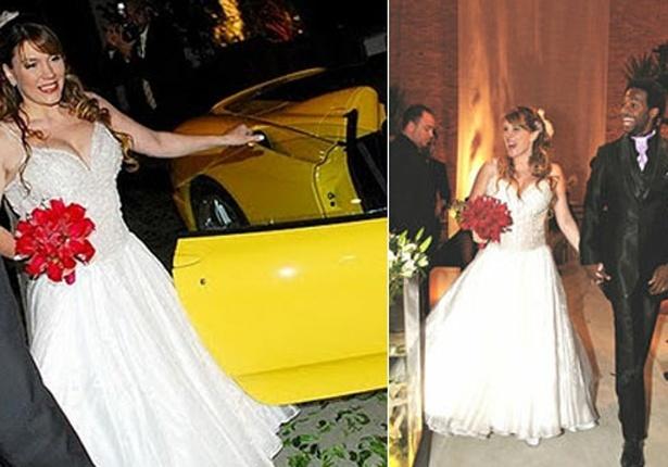 Simony oficializa a união com o ator Marcelo Batista em São Paulo (27/12/07). Os dois são casados atualmente