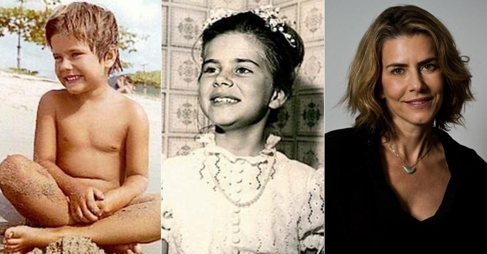 Esta garotinha sorridente na praia e vestida de vestido rendado mal poderia imaginar na infância que seria uma atriz global de sucesso. Você acha que Maitê Proença guardou traços do passado?