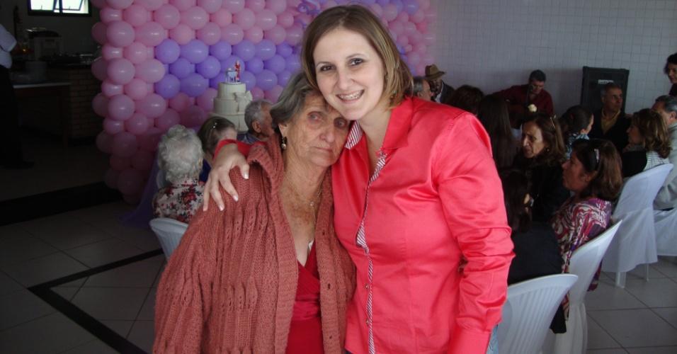 """"""" Aniversário de 90 anos de minha avó Olga Simonassi"""", conta Eloara Gobbi, de Vila Velha (ES)."""