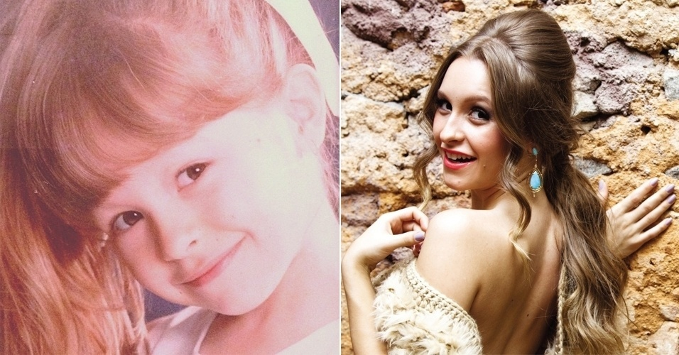 """""""Às vezes vejo que quase nada mudou!"""", escreveu a Carla Diaz ao postar a imagem de quando era pequenina no Instagram. Você concorda que a atriz é igualzinha quando criança?"""