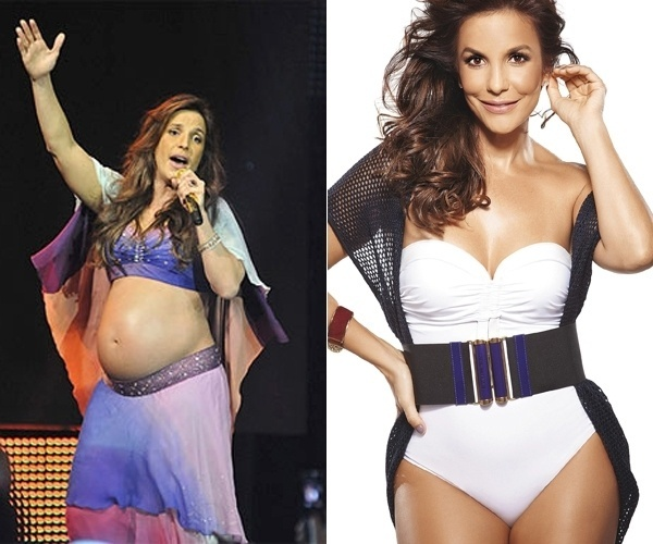 Um ano e 8 meses ap&#243;s dar &#224; luz seu filho, Ivete Sangalo perdeu 20 kg dos 24 kg que tinha ganho durante a gravidez. Em um ano foram 15 kg sem neuras para emagrecer, mas de quatro meses para c&#225; ela come&#231;ou uma dieta para perder os 9 kg que faltavam. A cantora baiana comemorou - e exibiu - a boa forma com a capa da revista &#39;Boa Forma&#39; de junho de 2012