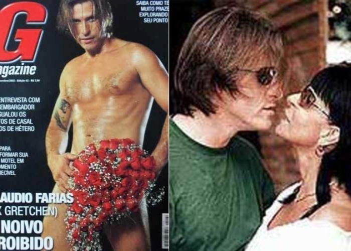 Em 2002, Gretchen se casou com o cabeleireiro Cláudio Alves de Farias. Após o término do relacionamento, Cláudio chegou a posar nu na revista