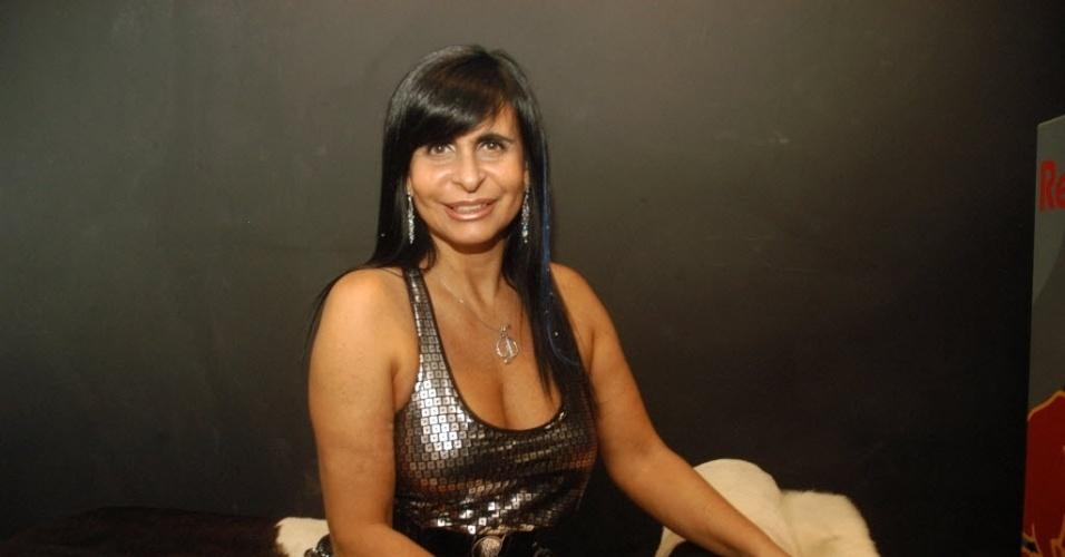 2010 - Gretchen em foto da época em que se candidatou à prefeitura da Ilha de Itamaracá