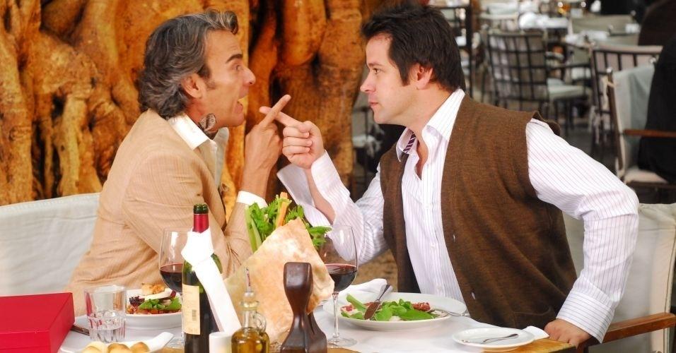 """2010 - Jacques Leclair (Alexandre Borges) e Ari (Murilo Benício) em """"Ti-Ti-Ti"""""""