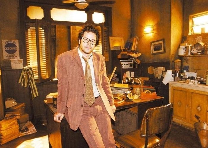 """17.jan.2006 - Murilo Benício durante gravação do novo filme do """"Casseta & Planeta, Urgente!"""" """"Seus Problemas Acabaram"""""""