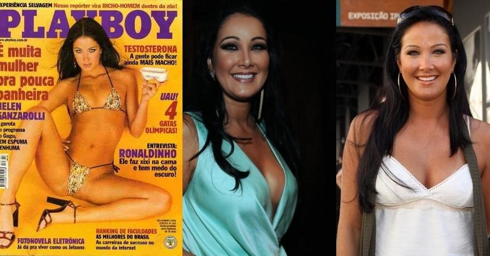 """A apresentadora Helen Ganzarolli, 32, começou sua carreira participando de vários concursos de beleza, como """"Miss Turismo São Paulo"""", """"Garota Rodeio Brasil"""" e """"Concurso Panteras"""", até ser convidada para participar do """"Sabadão Sertanejo"""", comandado por Gugu Liberato, em 2000. Hoje, é conhecida como a musa de Silvio Santos em seu programa de domingo"""