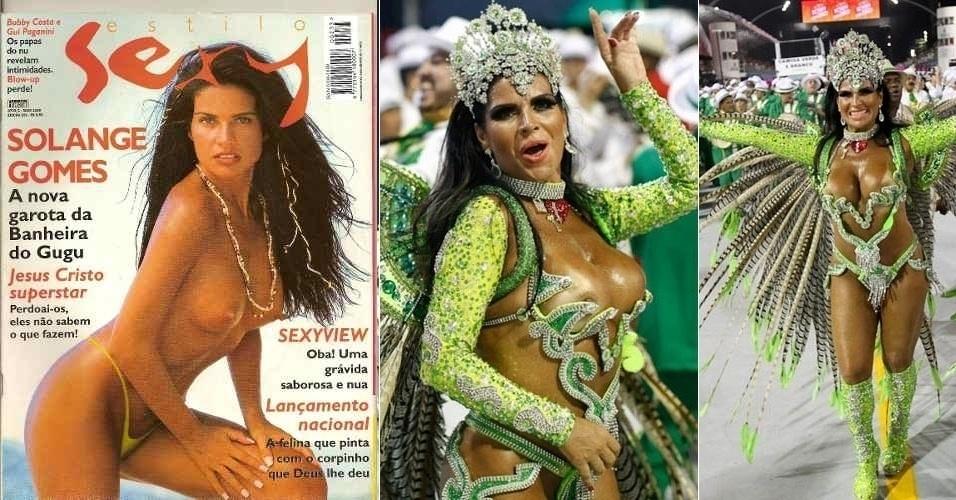 """Aos 38 anos, Solange Gomes ganhou espaço na televisão quando participou do extinto quadro """"Banheira do Gugu"""", do programa """"Domingo Legal"""", no SBT, nos anos 90. Além de ter participado de ensaios para muitas revistas masculinas, ela teve um intenso relacionamento com o ex-jogador Renato Gaúcho"""
